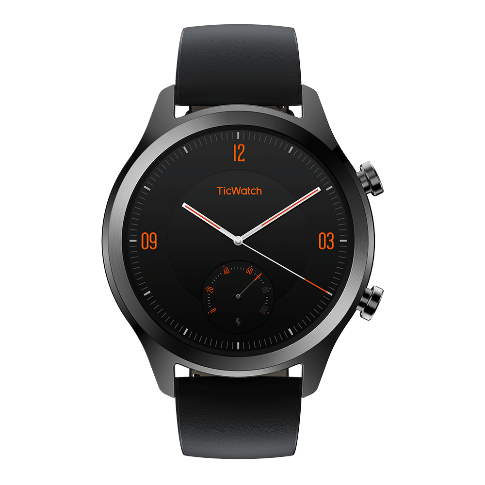 MobvoiTic Watch C2 - Onyx TicWatch C2 smartwatch - perfect combination of beauty and high technology. Look good and feel good. Genuine leather straps paired with a stainless steel watch case accentuate without compromising functionality. Smart and assured. Slim yet strong. TicWatch C2 smartwatch fits your digital lifestyle as much as it fits you. Built with steel, worn with confidence; Health & fitness companion; Pay from your wrist (Google Pay™ with NFC payments.); IP68 dust and waterproof; Winner of the iF Design Award 2019; Built-in GPS and 24hr heart rate monitor; Smart fitness tracking. Buy TicWatch C2 smartwatch on Mobvoi official website now! 2020 best andriod smartwatch.