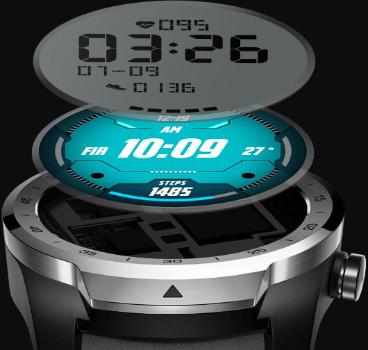 Premium smartwatch TicWatch Pro, Mobvoi AI wearable technology