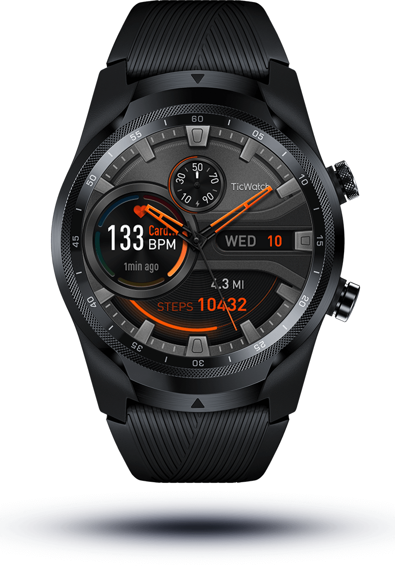 TicWatch Pro 4G/LTE smartwatch; Mobvoi AI wearable technology; Wear OS;